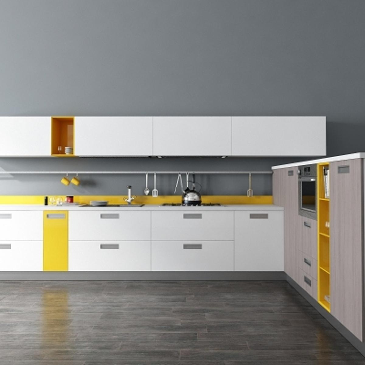 cg235现代厨房橱柜模型