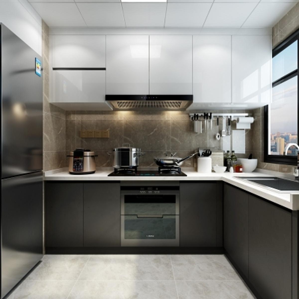 cg250现代厨房橱柜模型
