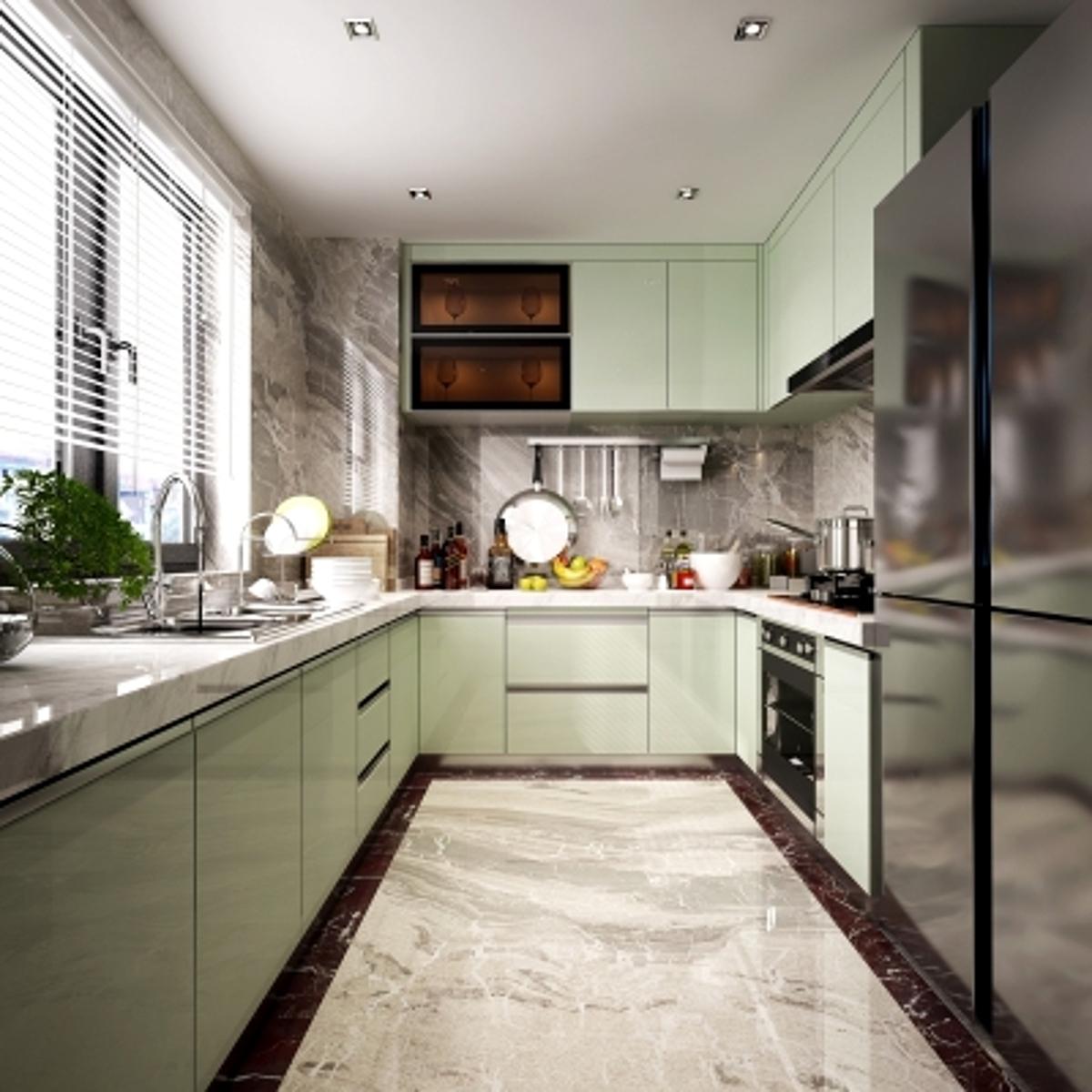 cg251现代厨房橱柜模型